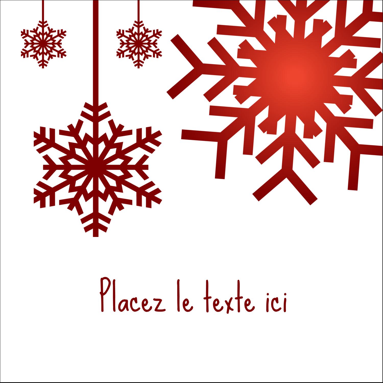 """2"""" Diameter Étiquettes rondes - Les gabarits Flocons de neige en feutre pour votre prochain projet des Fêtes"""