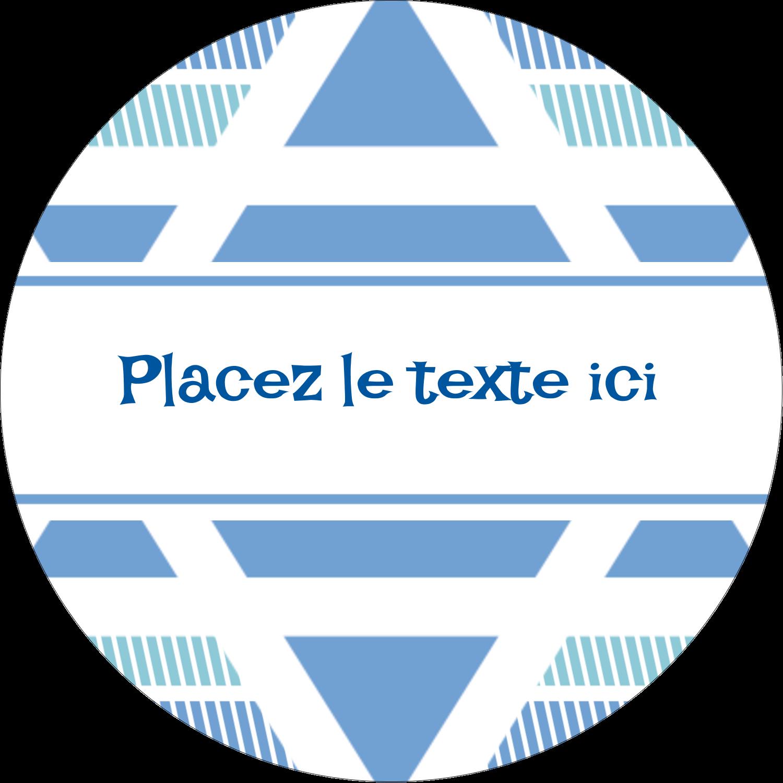 """2½"""" Diameter Étiquettes rondes - Étoile de Hanoukka"""