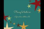 Étoiles du Nouvel An Étiquettes rondes gaufrées - gabarit prédéfini. <br/>Utilisez notre logiciel Avery Design & Print Online pour personnaliser facilement la conception.
