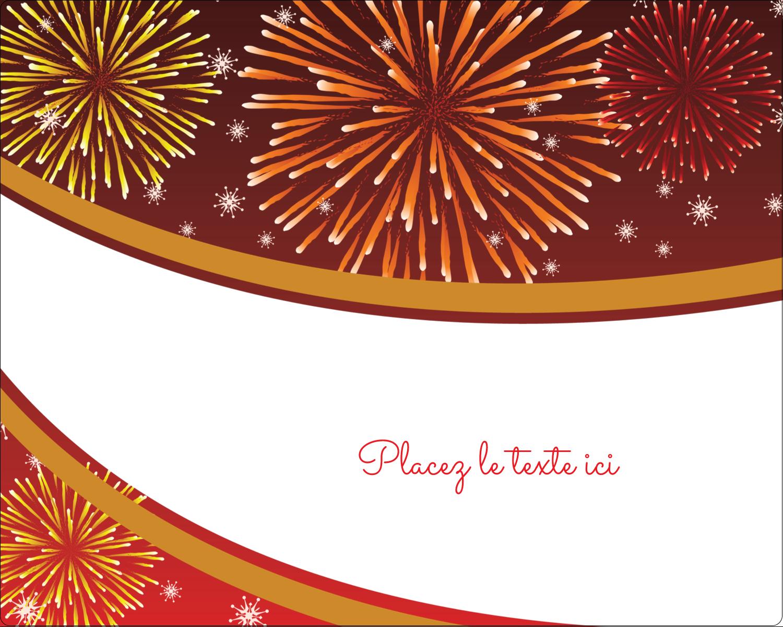 """2"""" Diameter Étiquettes rondes gaufrées - Feux d'artifice rouges du Nouvel An"""