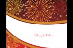 Feux d'artifice rouges du Nouvel An Étiquettes rondes gaufrées - gabarit prédéfini. <br/>Utilisez notre logiciel Avery Design & Print Online pour personnaliser facilement la conception.