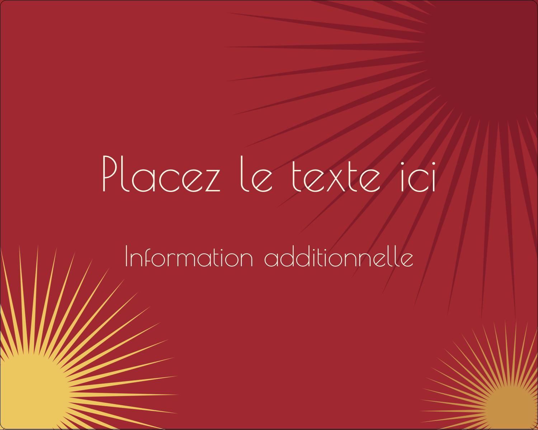 """2"""" Diameter Étiquettes rondes gaufrées - Soleils du Nouvel An"""