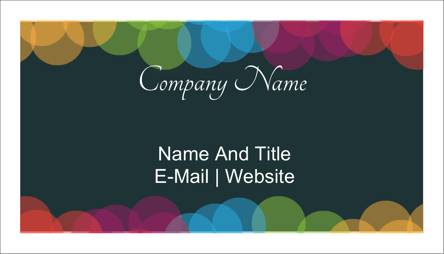 "2"" x 3½"" Business Card - New Year Coloured Lights"