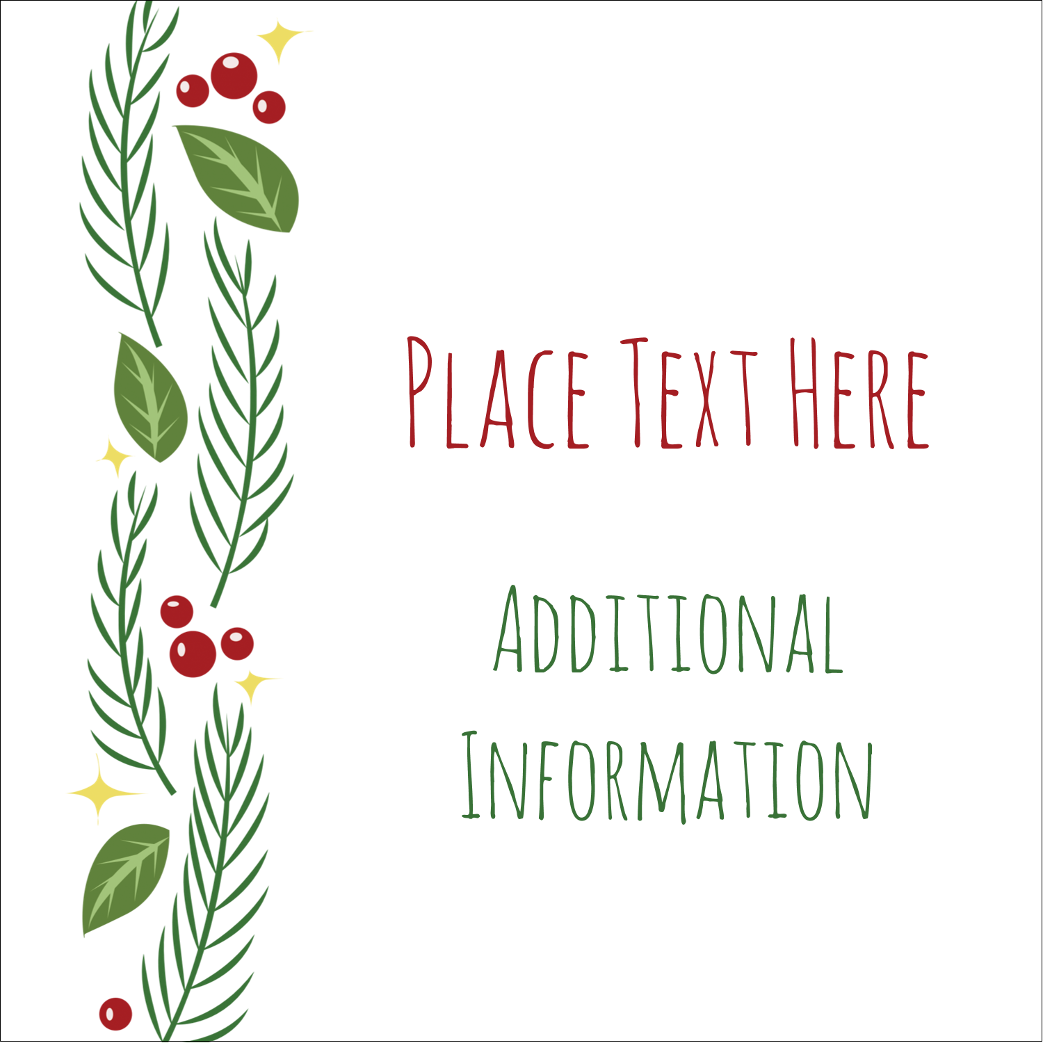 "1½"" x 1½"" Square Label - Garland"
