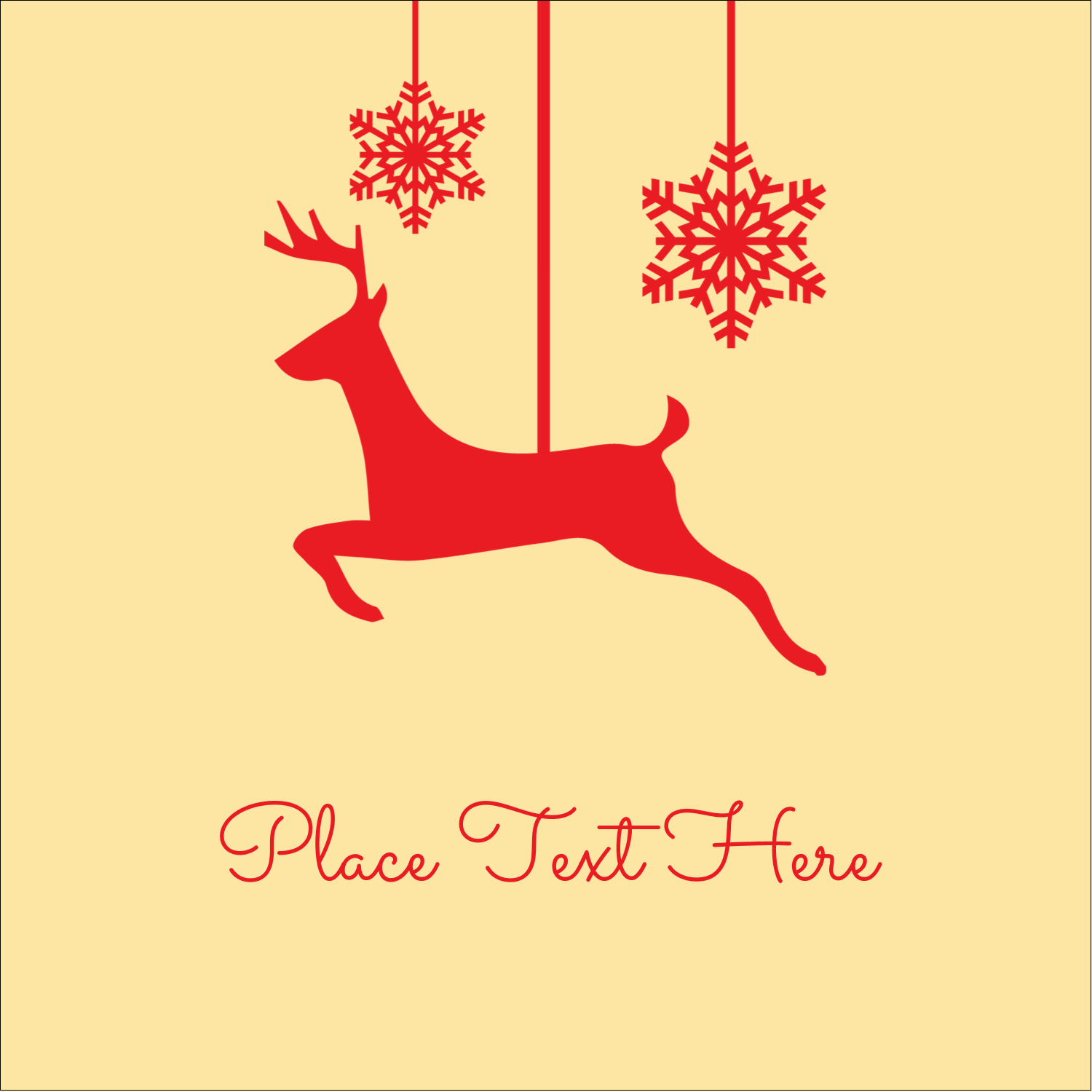"2"" x 2"" Square Label - Deer Decor"