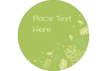 Projects take on a natural beauty with pre-designed Green Snowflakes templates.