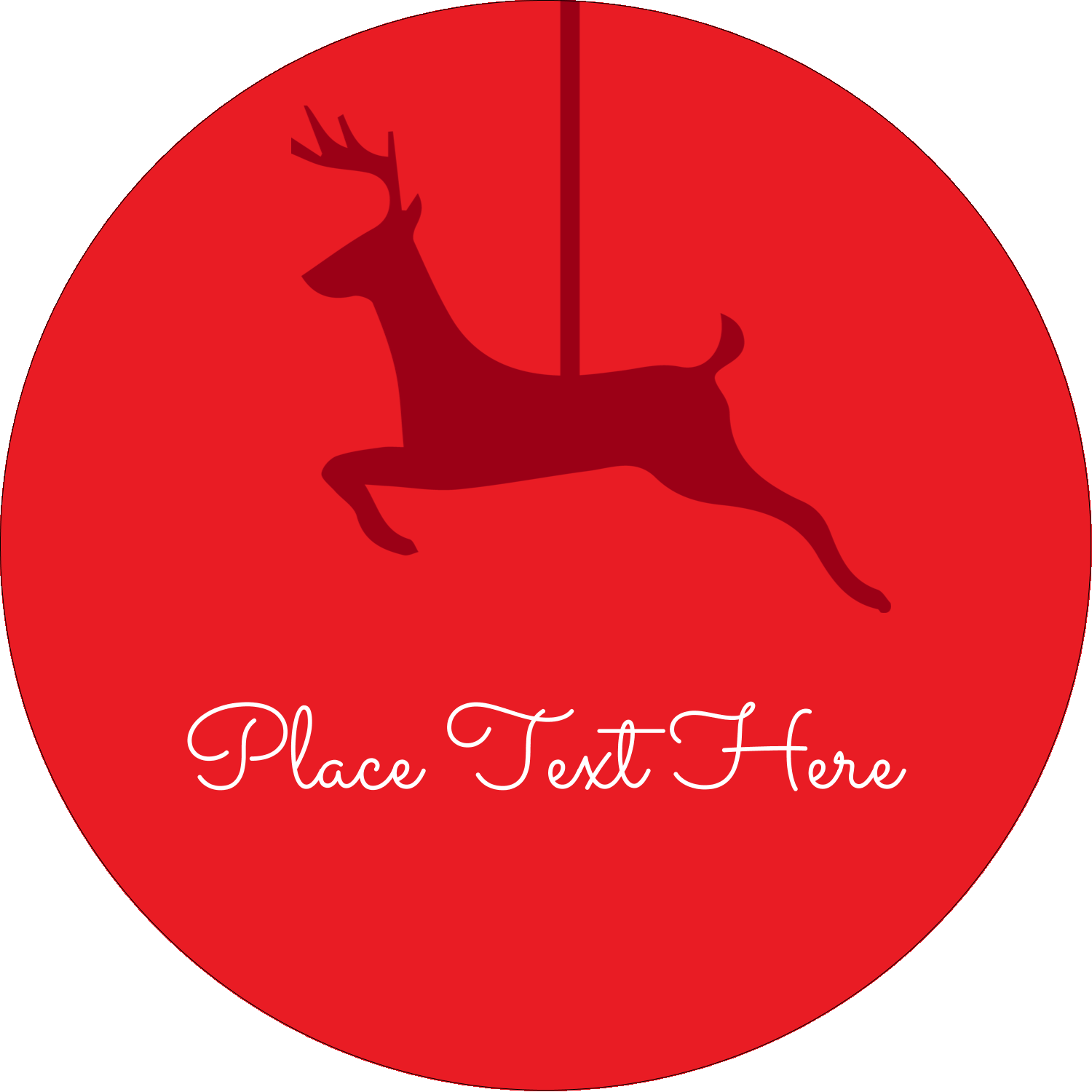 "2½"" Round Label - Deer Decor"