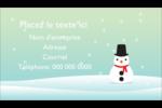 Petit bonhomme de neige Cartes Pour Le Bureau - gabarit prédéfini. <br/>Utilisez notre logiciel Avery Design & Print Online pour personnaliser facilement la conception.