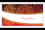 Feux d'artifice rouges du Nouvel An Cartes Pour Le Bureau - gabarit prédéfini. <br/>Utilisez notre logiciel Avery Design & Print Online pour personnaliser facilement la conception.