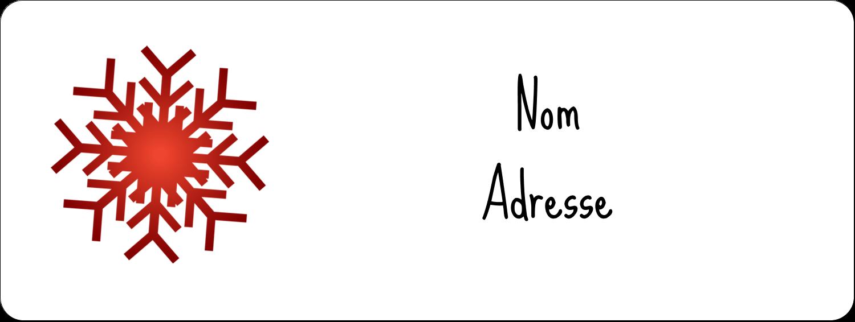 """1½"""" x 4"""" Étiquettes D'Adresse - Les gabarits Flocons de neige en feutre pour votre prochain projet des Fêtes"""