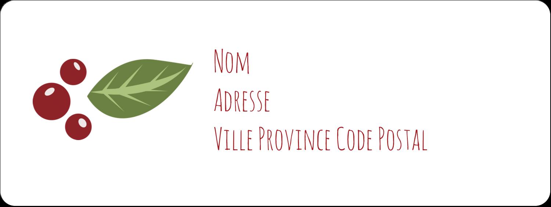"""1½"""" x 4"""" Étiquettes D'Adresse - Les gabarits Guirlande pour votre prochain projet des Fêtes"""