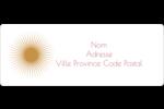 Soleils du Nouvel An Étiquettes D'Adresse - gabarit prédéfini. <br/>Utilisez notre logiciel Avery Design & Print Online pour personnaliser facilement la conception.