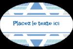 Étoile de Hanoukka Étiquettes carrées - gabarit prédéfini. <br/>Utilisez notre logiciel Avery Design & Print Online pour personnaliser facilement la conception.