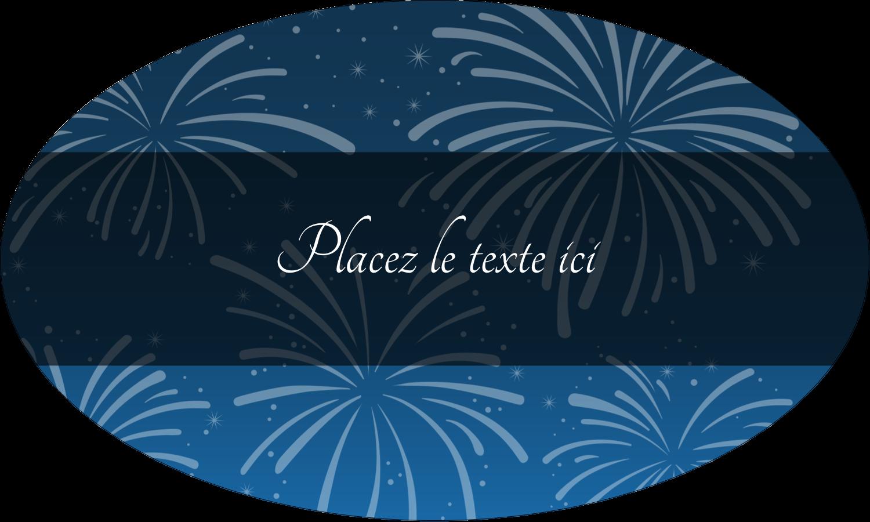 """1½"""" x 1½"""" Étiquettes carrées - Feux d'artifice bleus du Nouvel An"""