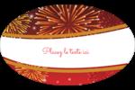 Feux d'artifice rouges du Nouvel An Étiquettes carrées - gabarit prédéfini. <br/>Utilisez notre logiciel Avery Design & Print Online pour personnaliser facilement la conception.