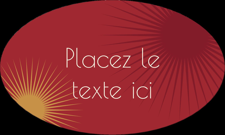 """1½"""" x 1½"""" Étiquettes carrées - Soleils du Nouvel An"""