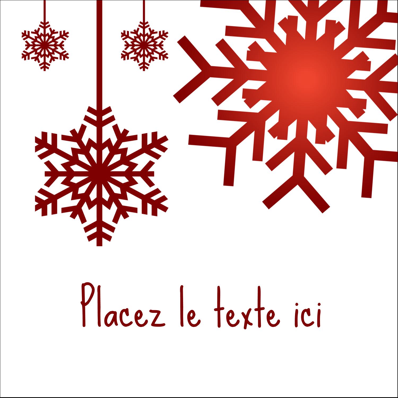 """2"""" x 2"""" Étiquettes carrées - Les gabarits Flocons de neige en feutre pour votre prochain projet des Fêtes"""
