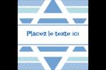 Étoile de Hanoukka Étiquettes rondes - gabarit prédéfini. <br/>Utilisez notre logiciel Avery Design & Print Online pour personnaliser facilement la conception.