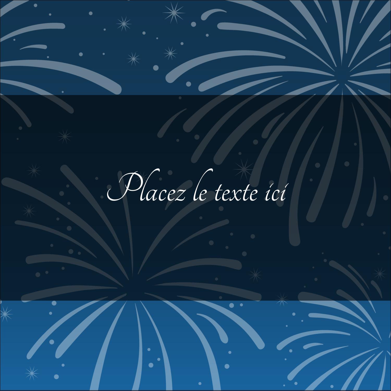 """2"""" Diameter Étiquettes rondes - Feux d'artifice bleus du Nouvel An"""