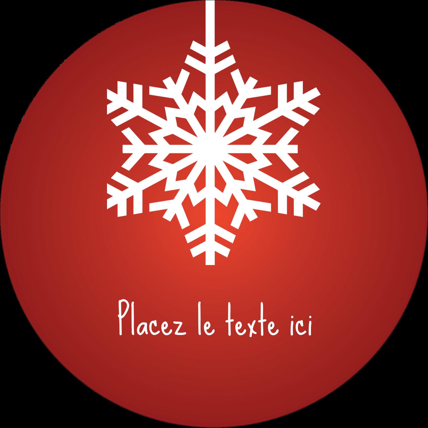 """2½"""" Diameter Étiquettes rondes - Les gabarits Flocons de neige en feutre pour votre prochain projet des Fêtes"""