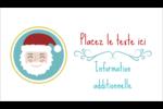 Père Noël Cartes Pour Le Bureau - gabarit prédéfini. <br/>Utilisez notre logiciel Avery Design & Print Online pour personnaliser facilement la conception.