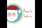 Père Noël Étiquettes carrées - gabarit prédéfini. <br/>Utilisez notre logiciel Avery Design & Print Online pour personnaliser facilement la conception.