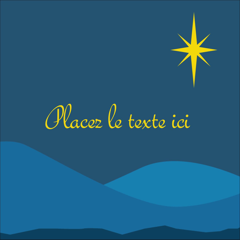 """2"""" x 2"""" Étiquettes carrées - Étoile de Bethléem"""