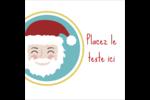 Père Noël Étiquettes rondes - gabarit prédéfini. <br/>Utilisez notre logiciel Avery Design & Print Online pour personnaliser facilement la conception.