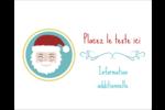 Père Noël Étiquettes rondes gaufrées - gabarit prédéfini. <br/>Utilisez notre logiciel Avery Design & Print Online pour personnaliser facilement la conception.