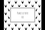 Motif de renne noir et blanc  Étiquettes rondes gaufrées - gabarit prédéfini. <br/>Utilisez notre logiciel Avery Design & Print Online pour personnaliser facilement la conception.