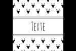 Motif de renne noir et blanc  Étiquettes carrées - gabarit prédéfini. <br/>Utilisez notre logiciel Avery Design & Print Online pour personnaliser facilement la conception.
