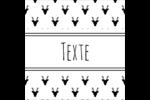 Motif de renne noir et blanc  Étiquettes enveloppantes - gabarit prédéfini. <br/>Utilisez notre logiciel Avery Design & Print Online pour personnaliser facilement la conception.