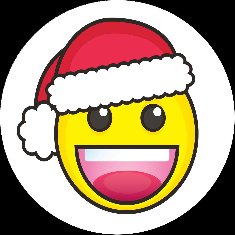 """2½"""" Round Label - Emoji Holiday"""