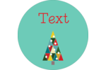 Kaleidoscope Christmas Tree Round Label Pre-Designed Template. <br/>Customize this printable design template with our Avery Design & Print Online Software.