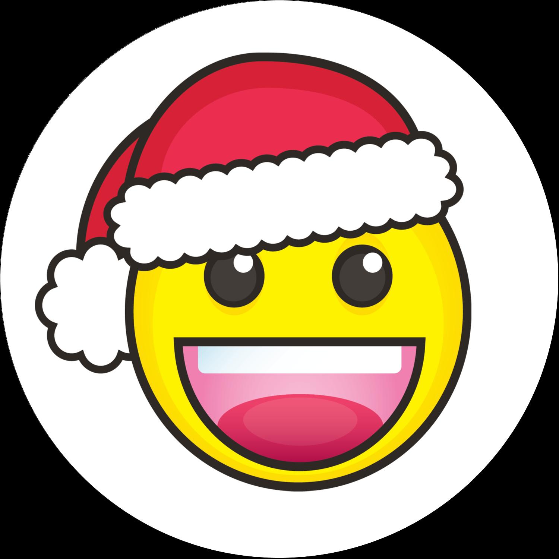"""2"""" Round Label - Emoji Holiday"""