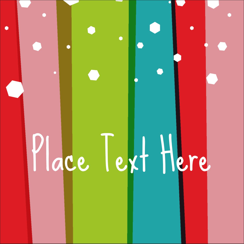 "1½"" x 1½"" Square Label - Christmas Retro Stripe"