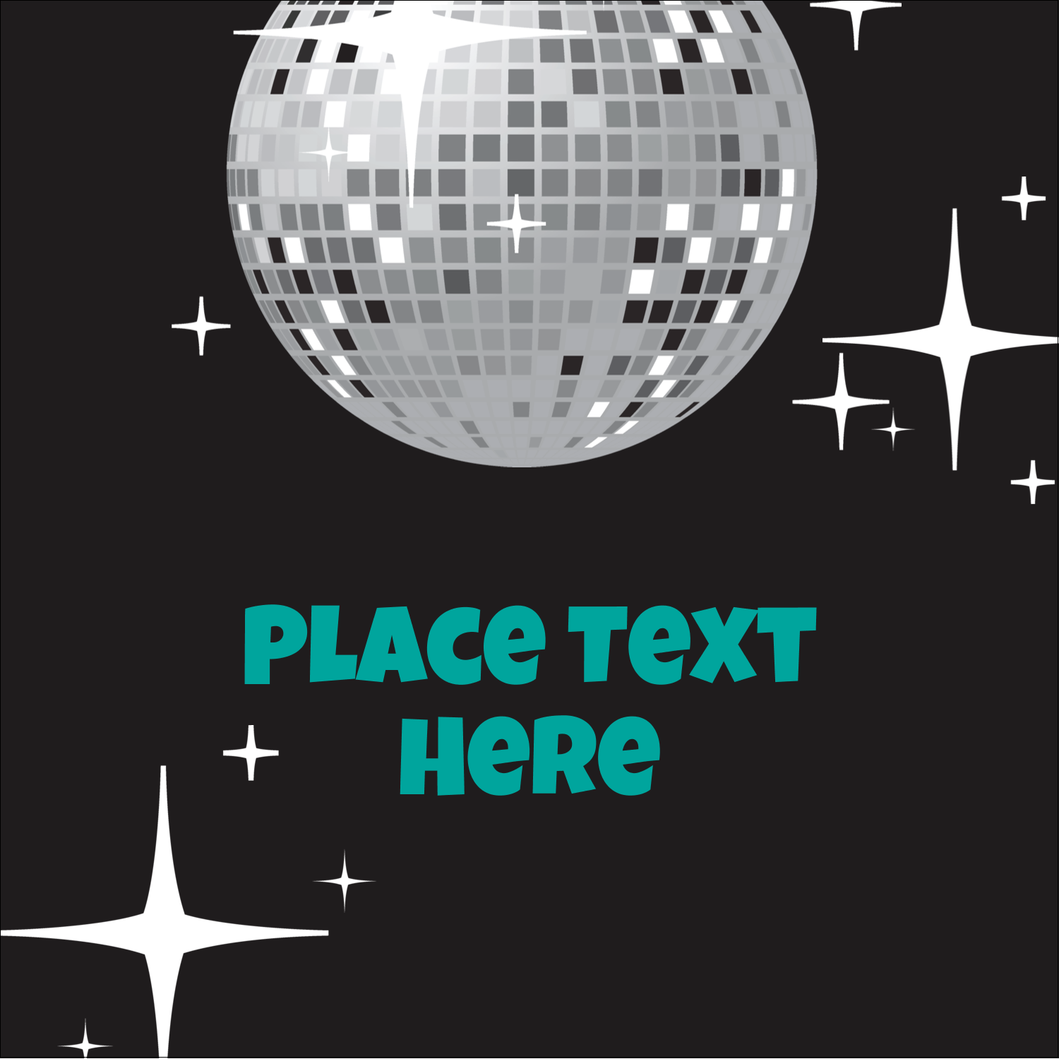Get your custom project's groove on with pre-designed Disco Ball templates.