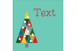 Kaleidoscope Christmas Tree Square Label Pre-Designed Template. <br/>Customize this printable design template with our Avery Design & Print Online Software.