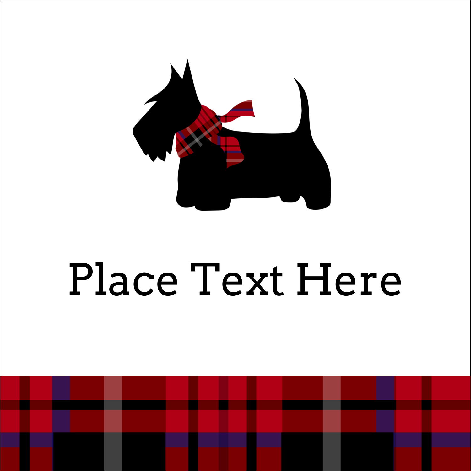 "1½"" x 1½"" Square Label - Scottie Dog"
