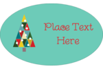 Kaleidoscope Christmas Tree Oval Glossy Label Pre-Designed Template. <br/>Customize this printable design template with our Avery Design & Print Online Software.