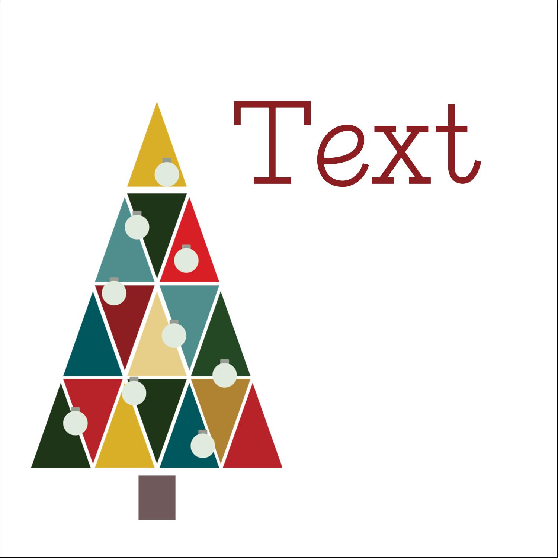 """2"""" x 2"""" Kraft Square Label - Kaleidoscope Christmas Tree"""