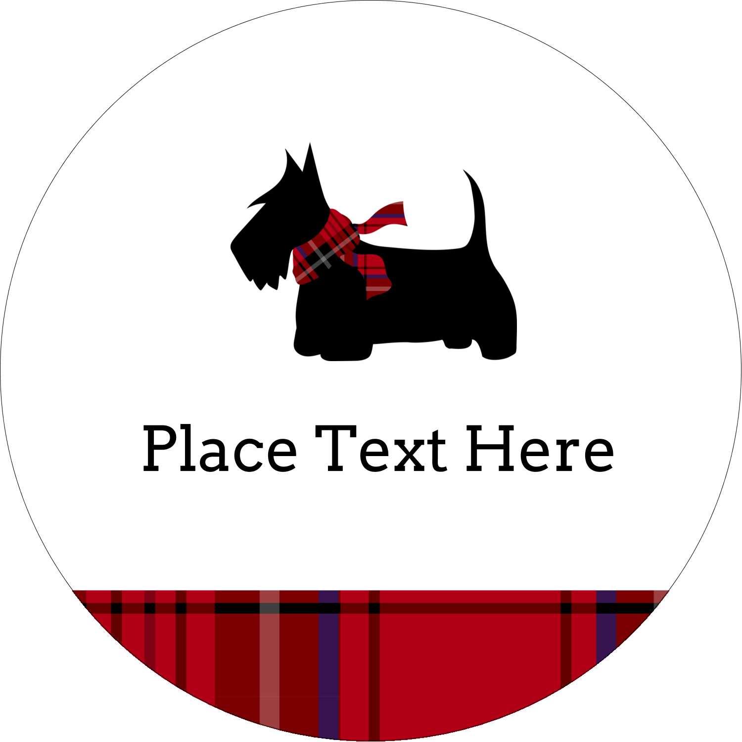 "2½"" Round Label - Scottie Dog"