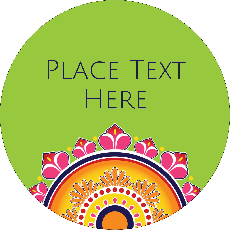 "2½"" Round Label - Diwali Rangoli"