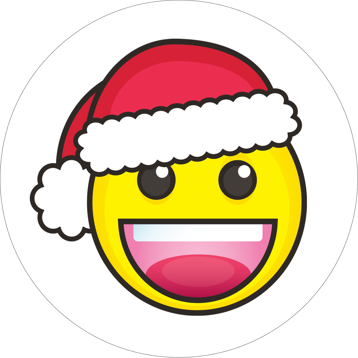 "2½"" Round Label - Emoji Holiday"