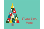 Kaleidoscope Christmas Tree Rectangular Label Pre-Designed Template. <br/>Customize this printable design template with our Avery Design & Print Online Software.