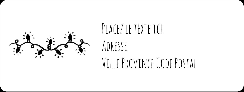 """1½"""" x 4"""" Étiquettes D'Adresse - Lumières sur tableau noir"""