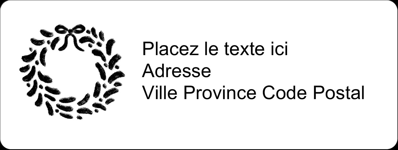 """1½"""" x 4"""" Étiquettes D'Adresse - Guirlande sur tableau noir"""