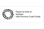 Guirlande sur tableau noir Étiquettes D'Adresse - gabarit prédéfini. <br/>Utilisez notre logiciel Avery Design & Print Online pour personnaliser facilement la conception.