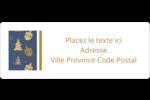 Motif HanouNoël Étiquettes D'Adresse - gabarit prédéfini. <br/>Utilisez notre logiciel Avery Design & Print Online pour personnaliser facilement la conception.