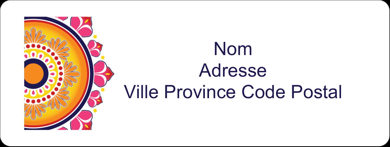 "1½"" x 4"" Étiquettes D'Adresse - Rangolis Divali"